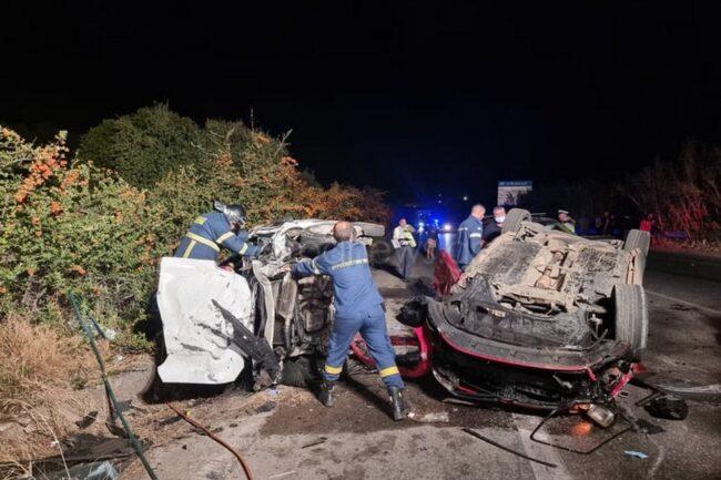 Τραγωδία στα Χανιά: Δύο νεκροί και τέσσερις τραυματίες σε τροχαίο – Σοκάρουν οι εικόνες